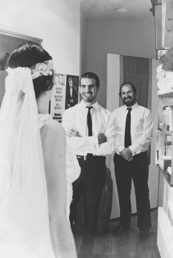 the bride and her father and brother