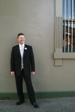 Noosa wedding groom happy
