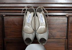 Noosa wedding bride jimmy choo shoes