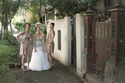 happy noosa wedding bride and maids