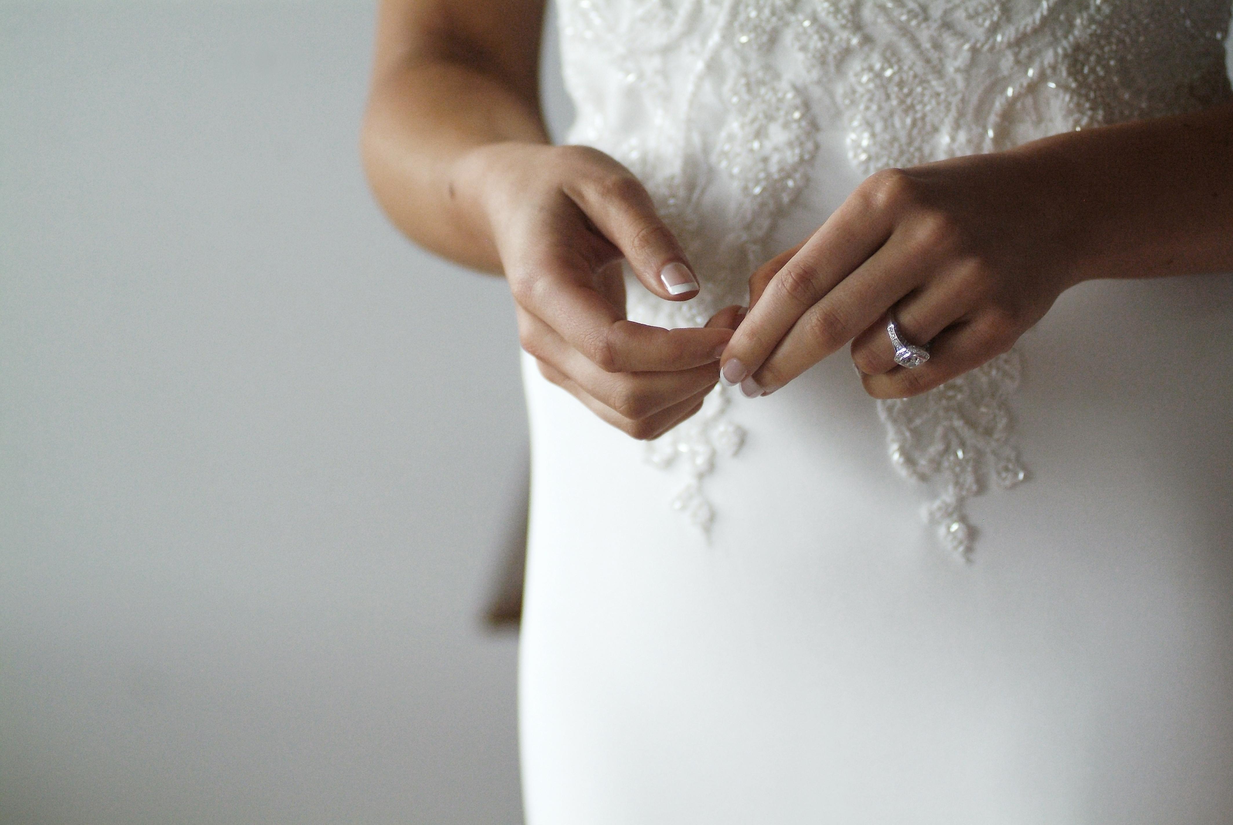 Noosa wedding bride hands detail