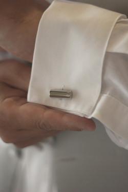 Noosa wedding groom diamond cufflink