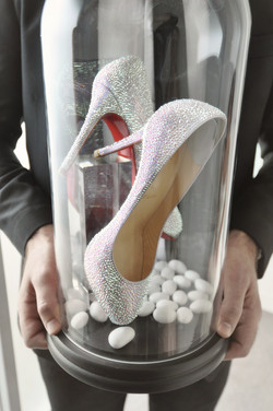 diamond encrusted bridal high heels