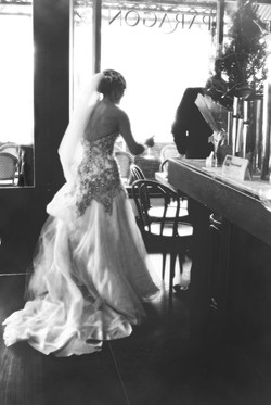 Noosa wedding bride back of dress