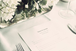 noosa wedding reception place set