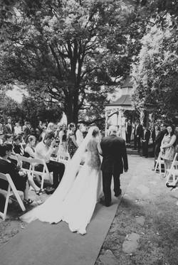 Noosa bride walking down aisle