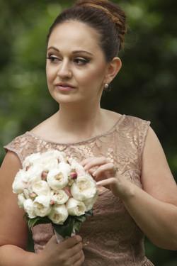 Noosa wedding bridesmaid and flowers
