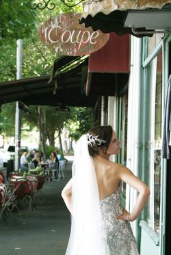 Noosa wedding bride posing back