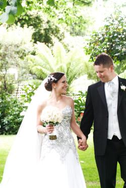 Noosa wedding bride and groom