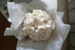 Noosa wedding brides white bouquet