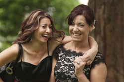 Noosa wedding guests laughing