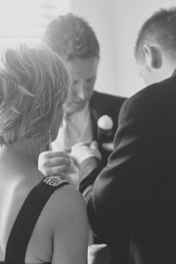 Noosa wedding groom dressing