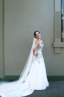 Noosa wedding bride laughing