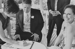 Noosa wedding celebrant signing