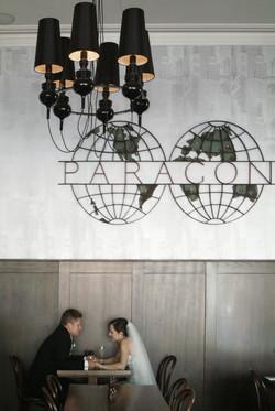Noosa bride and groom in a bar