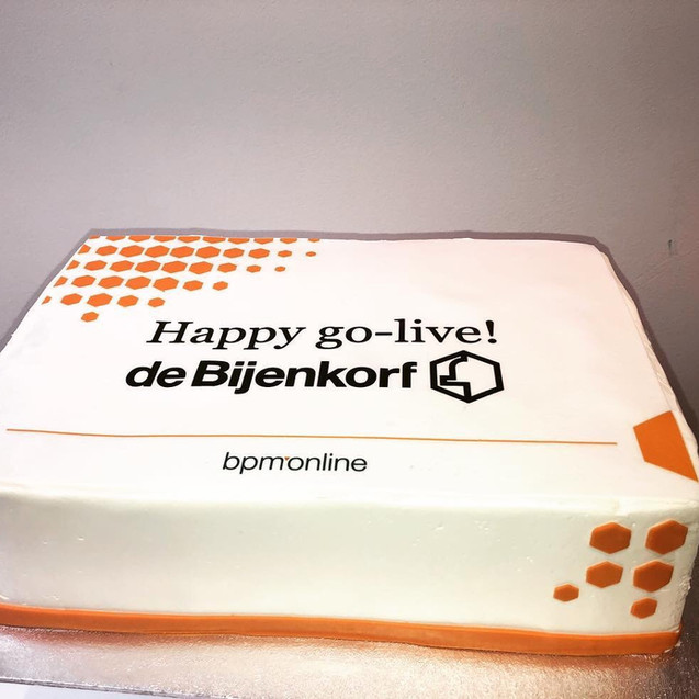 Cake for the Bijenkorf from their partner