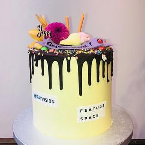 Cake celebrating succesful partnership