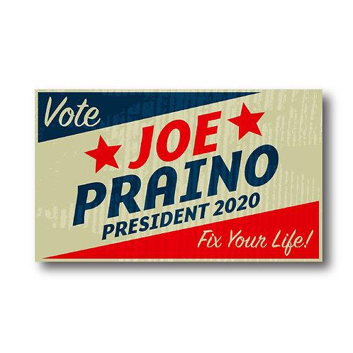 PRAINO FOR PRESIDENT 2020 STICKER Vintage
