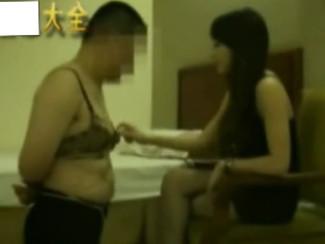 Shanghai Queen has fun humiliating her cross-dressing sub 国内经典调教视频系列:名气上海女S玩弄变装奴隶