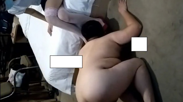 Fat ugly sub serves Chinese Goddess and her boyfriend