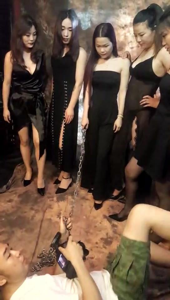 Chinese Mistresses dominating Camera Man