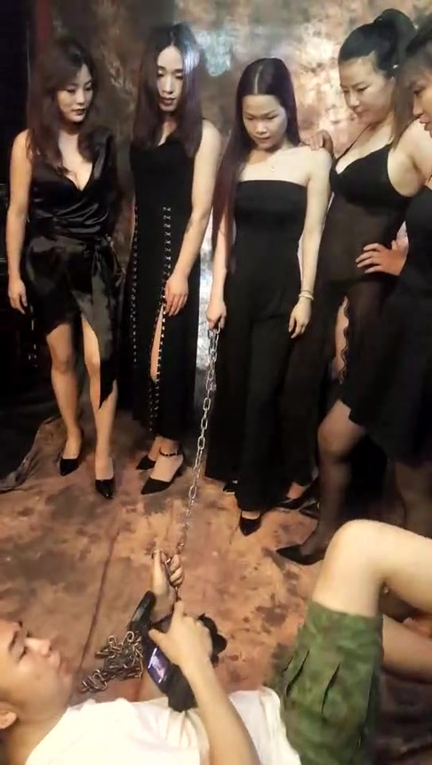 Chinese Mistresses dominating Camera Man