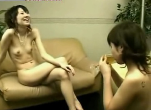 Japanese Lesbian BDSM – hot Japanese girl dominates village girl