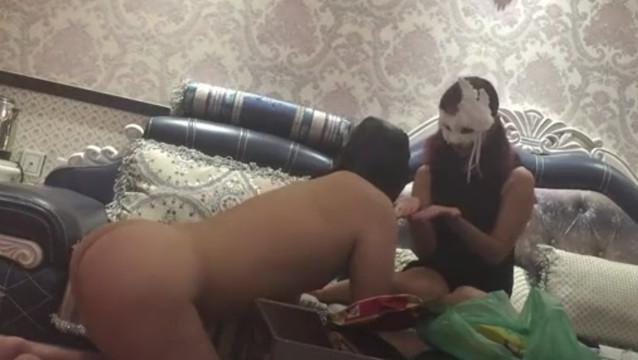 Pathetic cuckold sub serves mistress and her boyfriend