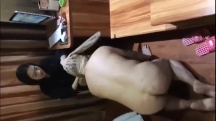 Sexy Chinese goddess dominates overweight sub and makes him her dog