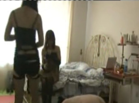 Two model-like Chinese goddesses humiliate fat loser