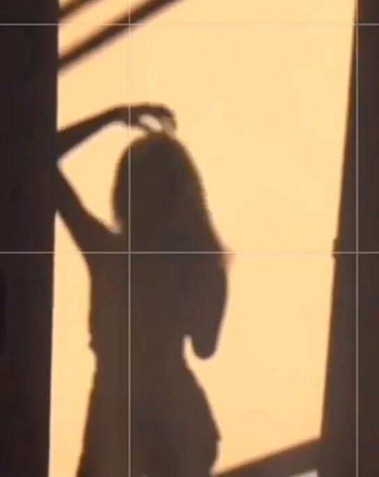 Shadow of sexy unattainable Goddess Naomi