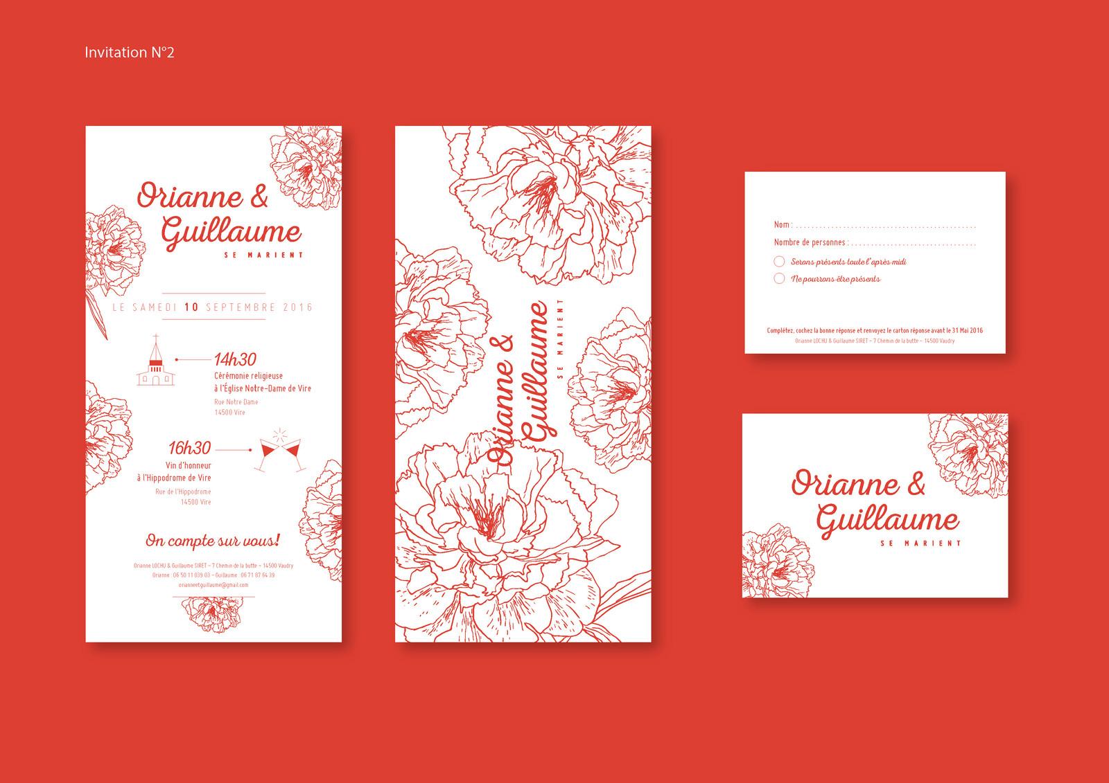Wedding invitation 2016 | Graphic Designer | Le Désigraphe | Dublin
