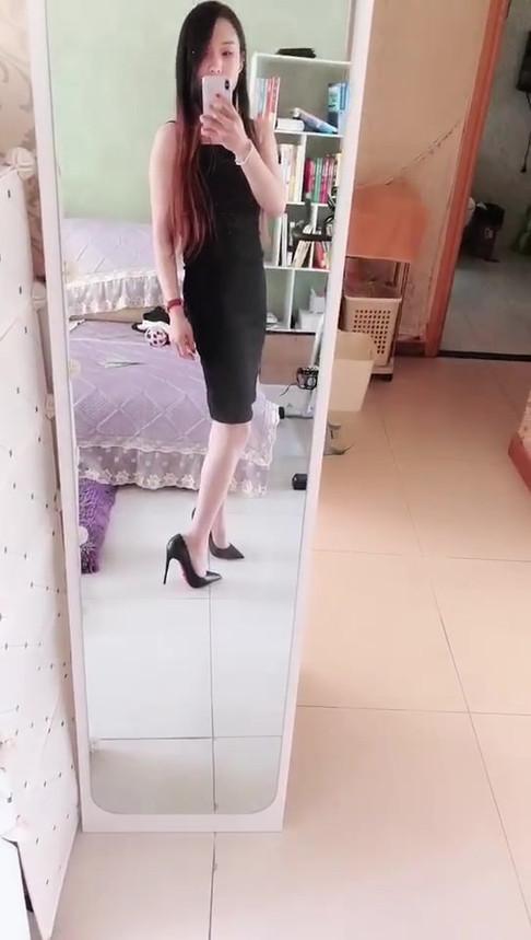 Mistress SS looking so sexy in a low-cut dress