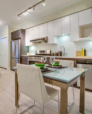 Purpose built student accommodation kitchen/diner