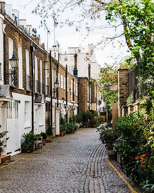 Street in London of Victorian residential properties