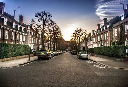Residential street with HMO's in Nottingham