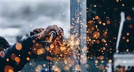 Welding on a property construction site