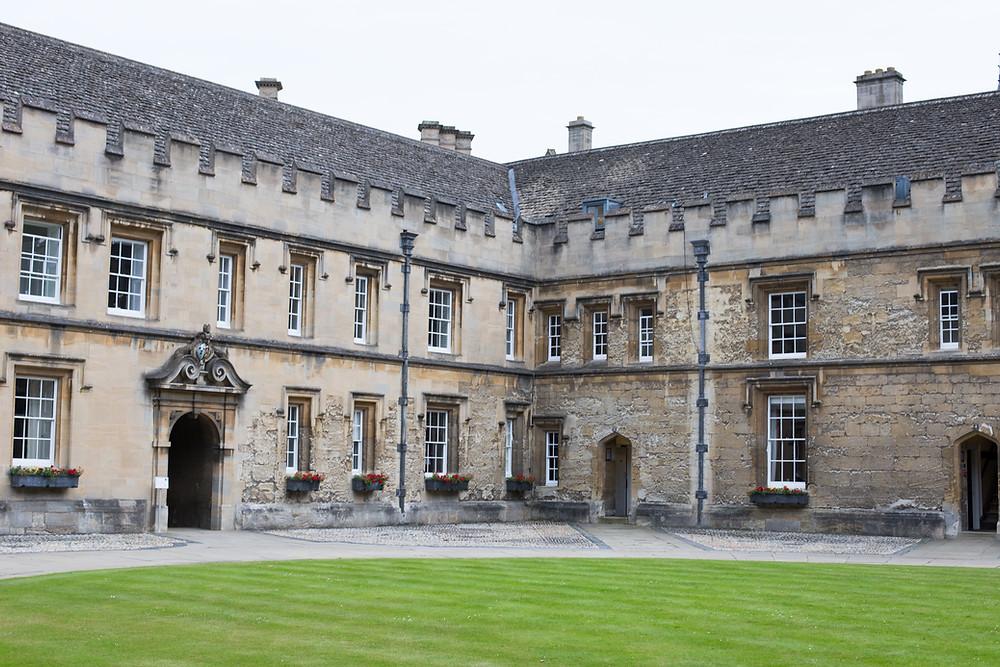 UK university courtyard