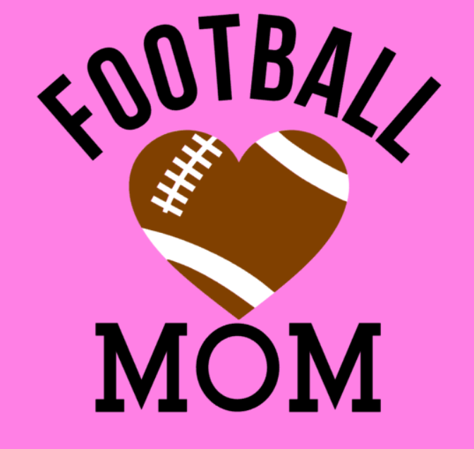 football mom with pink background