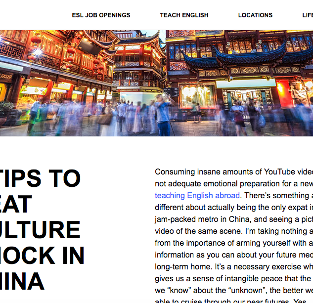 How to Beat Culture Shock In China
