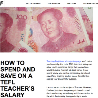 How to spend & save on a TEFL teacher's