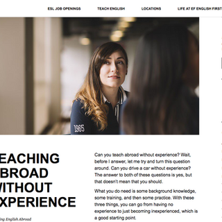 Teaching abroad without experience