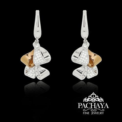 Ribbon diamonds earring