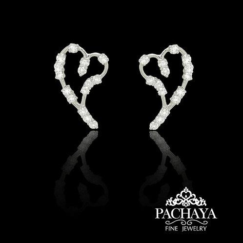 Heart diamonds earring