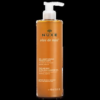 Rückfettendes Waschgel Gesicht und Körper Rêve de Miel® 400ml