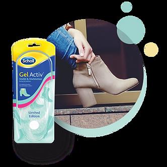 GelActiv® Einlegesohlen Stiefel & Stiefeletten