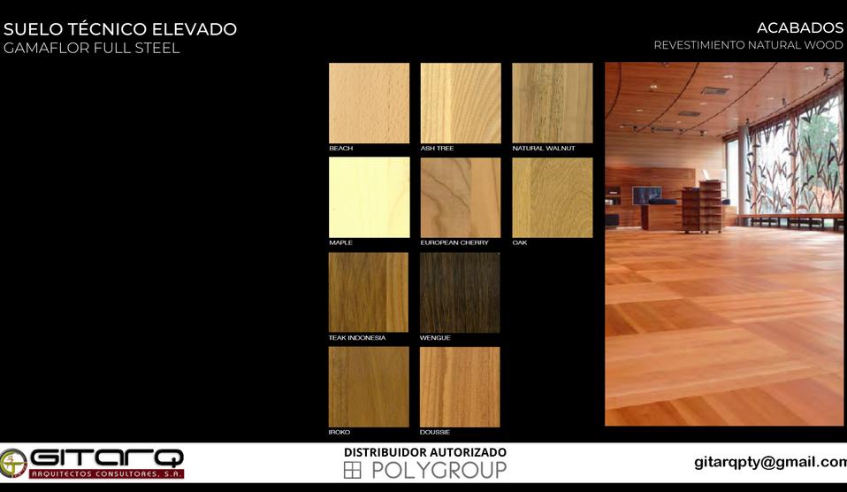 8 Revestimiento Piso tecnico wood