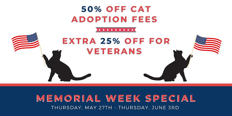 Memorial Week Cat Special