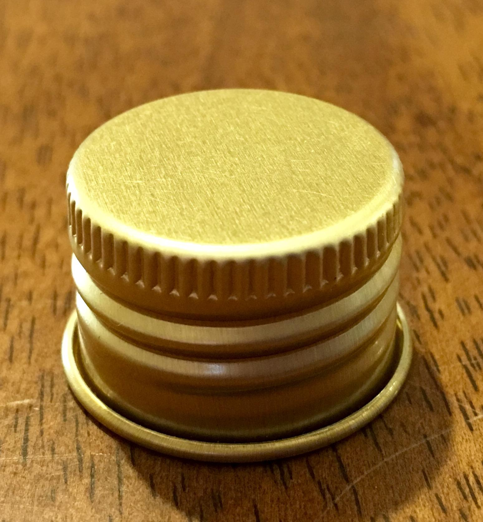 TAPA ROSCA METAL GOLD (24/410)
