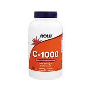 VITAMINA C - 1000 (100 cáps) NOW con BIOFLAVONOIDES